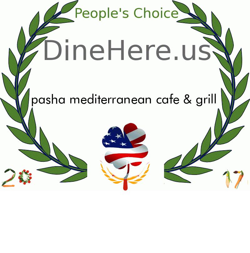 pasha mediterranean cafe & grill DineHere.us 2017 Award Winner